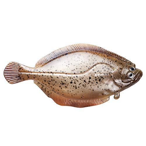 XCB Gummifisch Gummiköder Norwegen Angeln - Baby Butt 12,5cm Real Flounder