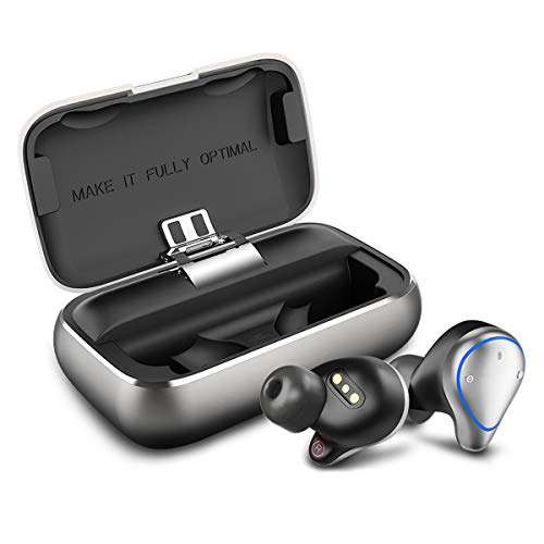 Bluetooth Kopfhörer, Bokman O5 in Ear Bluetooth 5.0 Headset Stereo-Minikopfhörer Sport Kabellose Bluetooth Kopfhörer mit Portable Mini Ladekästchen und Integriertem Mikrofon by Ayake 100 Bluetooth-stereo-headset