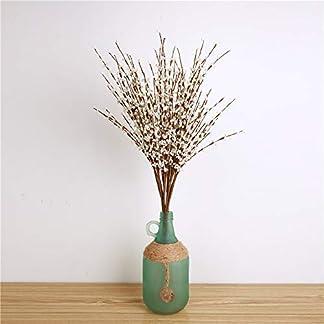 Fjiujin,Flores Artificiales de jazmín Decoración Familiar Boda Novia Ramo en Invierno(Color:Blanco)