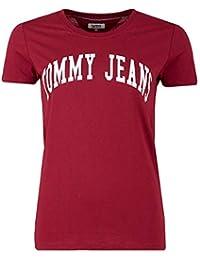 Tommy Jeans Damen Clean Logo  Kurzarm T-Shirt T-Shirt