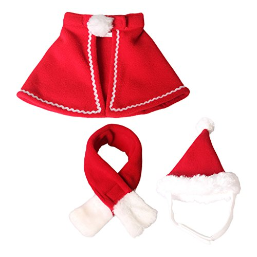 MagiDeal Cappello da Babbo Natale con Mantello Regolabile Costume da Babbo Natale con Mantello Xmas Costume Dress S
