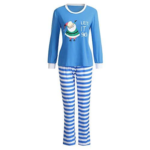 (Challeng Abstand Familie Passende Pjs für Weihnachten Frauen Baby Tops Hosen Pyjamas Nachtwäsche Indoor Hemd Hosen 2 Stücke Schlaf Nachtwäsche)