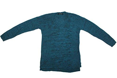 Ellen Tracy 3/4 Sleeve V-Neck Pullover Sweater (Large, Cape Verde Black) (V-neck-pullover 3/4 Sleeve)