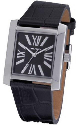 Time Force TF-3390L01 - Reloj analógico para Mujer. Correa de Piel de vaca color Negro.