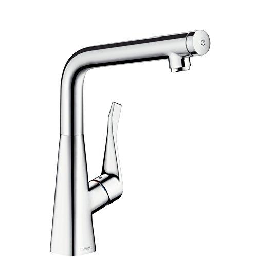 Metris Select Einhebel-Küchenmischer, Komfort-Höhe 320mm mit Schwenkauslauf, chrom