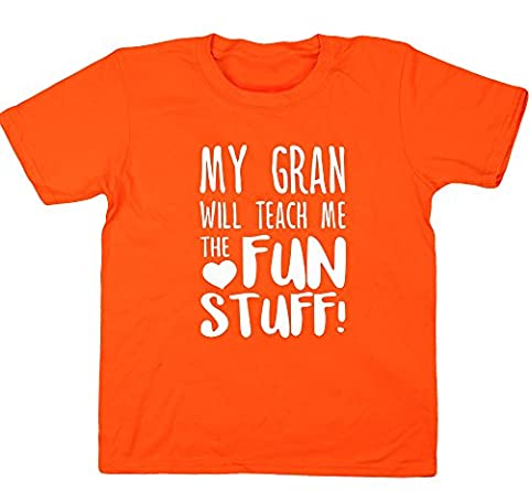 HippoWarehouse - T-shirt - Fille 6 ans - orange - 11 ans