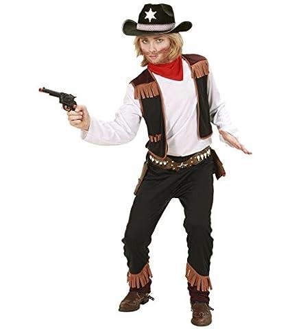 Widmann 02597 - Kinderkostüm Cowboy, Shirt mit Weste, Hose und Halstuch, Gröߟe 140
