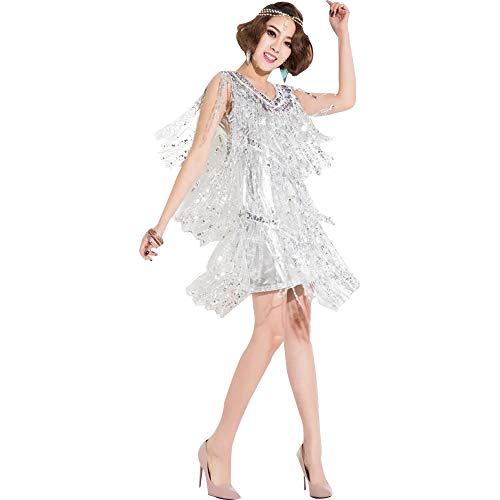 GOWE Damen Mode Tanzkleider - Ärmellose Pailletten Quaste Latin Jazz Dance Kostüme, - Latin Jazz Dance Kostüm