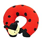 Best Travel Baby Toys - Ultra Soft Beetle Travel Neck Cushion Pillow, Red Review