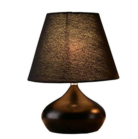 LH&M Europäischen Stil kreative Schlafzimmer Button-Typ Tuch Deckung Nachttisch Lampe