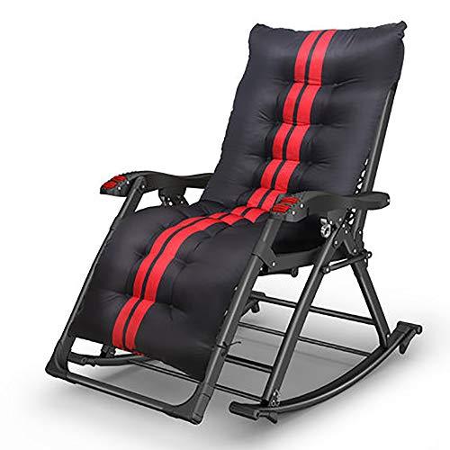 Xiao Jian- Chaise pliante-nouveau fauteuil inclinable Déjeuner pliant Siesta Bed Fauteuil à bascule multifonctions Personnes âgées Balcon Chaise de loisirs Maison Chaise pliante (Couleur : B)
