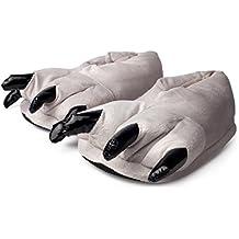 Katara Zapatillas de felpa con garras para niños, color gris, Talla Unica UE 29