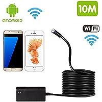 Bluefire WiFi endoscopio IP66 impermeabile ispezione serpente fotocamera 3 regolabile risoluzioni HD LED per tutti i telefoni iPhone (tranne iPhone4/4S)/iPad/Android Phone/Tablet Android(10M)