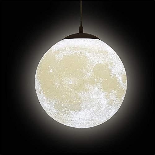 3D Drucken Mond Pendelleuchten Decken - Universum Planet Nachtlampe Kreativ Laterne Restaurant Bar Zuhause Kinder Schlafzimmer LED Hängende Beleuchtung(Glühbirne Ist Nicht im Lieferumfang Enthalten)