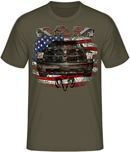 RAM, american Pickup Truck, US Car, Mopar V8, Dodge, Muscle car, Shirtmatic Shirt o. Hoodie 2009 oliv (khaki)