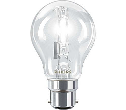 Pack of 4 - Philips A55 70W (=100W) BC B22 Energy Saving EcoClassic Halogen GLS Bulbs