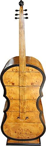 Casa Padrino Art Deco Schubladen Schrank Vogelaugenahorn im Bass Instrumenten Design - Handgefertigt...