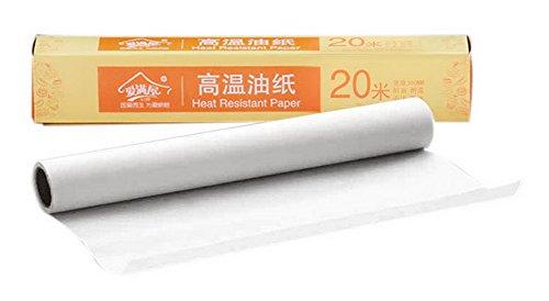 Koala Superstore Lebensmittelqualität Bakeware Papier Öl-Beweis-Papier für Grill Gebäck Keks (20 Meter)