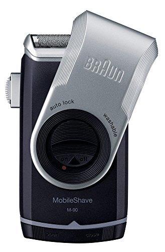 Braun MobileShave M-90 Men's Portable Electric Foil Shaver Travel Battery Razor