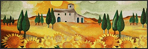 Salonloewe Rosina Wachtmeister Nuovo Girasole Fußmatte waschbar 060 x 180 cm Fußabtreter, Schmutzfangmatte