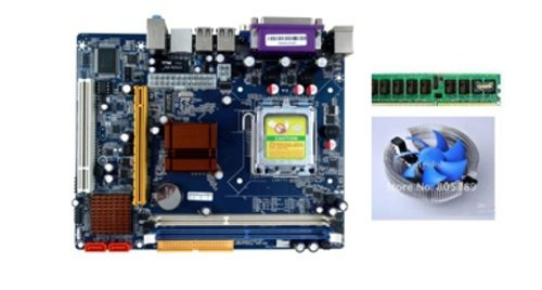 INTEL G41 COMBO MOTHERBOARD WITH DDR3 2GB RAM AND CPU COOLER FAN PLUS ONE FREE CORE2DUO 2.33GHZ CPU