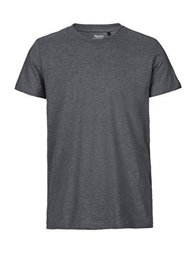 -Neutral- T-Shirt, 100% Bio-Baumwolle. Fairtrade, Oeko-Tex und Ecolabel Zertifiziert, Textilfarbe: dunkelgrau, Gr.: 3XL -