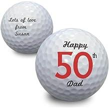 personalisierbar Big ZAHLEN Geburtstag Golf Ball
