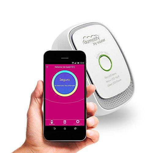 domotify Sensor Gas Detektor Gas, intelligente Wireless Hausautomation und Zubehör, Weiß