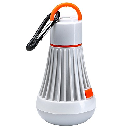 ht LED Taschenlampe verwenden 18650 Batterie 3W Hängeleuchte 4 Modi 3 Farben tragbare Laternen LED-Lampe (Color : Orange) ()