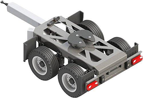 CARSON 500907210 - 1:14 2-Achs Dolly starr, RC-Truck Zubehör, Maßstab 1:14, Gigaliner Gespann, Anhänger, Ersatzteile, Tuningteile, Modellbau