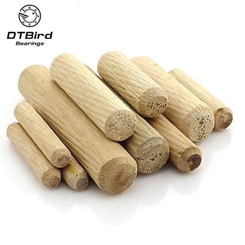Ochoos M6 Holzdübel für Schrank, Schublade, rund, geriffelt, Holzdübel, Stangen-Set, Möbel, 6 mm Länge = 20/25/30/40 mm - Runde Set, China Schrank
