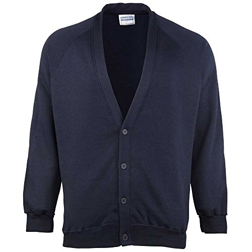 Maddins Mens Coloursure Colours Knitted Button Cardigan Navy,Green S,M,L,XL Navy