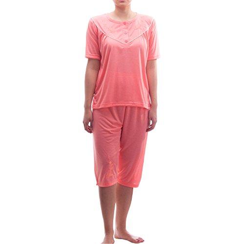 Lucky capri pyjama-fine avec broderie Orange - Corail