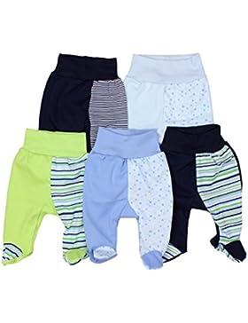 TupTam Unisex Baby Strampelhose mit Fuß Baumwolle 5er Pack