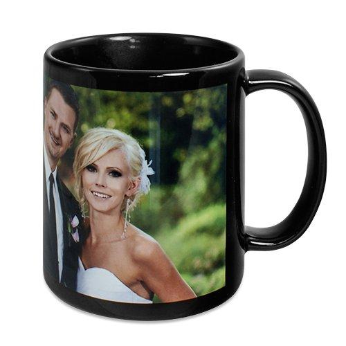 Schwarze Tasse mit Fotodruck (Druckfläche 190*80mm) - Einfach online gestalten!