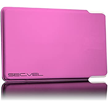 SECVEL Lollypop Porte-cartes style jeune–protection RFID-/NFC & champs magnétiques