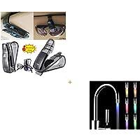 Amison Coche Parasol Gafas Gafas de sol Boleto Recibo clips de tarjetas Titular de almacenamiento