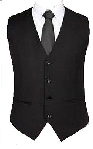 schwarze Anzugsweste/ festliche Blazer /in uni Schwarz für Jungen Gr.86-176