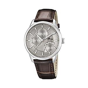 Lotus Reloj Analógico para Hombre de Cuarzo con Correa en Cuero 15974/2