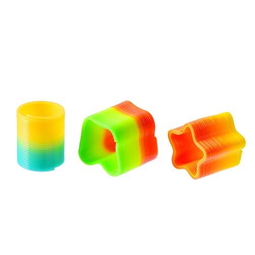Willbond-Mini-Juguete-de-Muelle-de-Arco-Iris-para-Suministros-de-Disfrute-y-Fiesta-Colores-Variados-6-Formas-30-Piezas