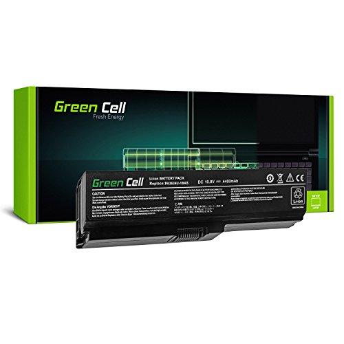 Green Cell PA3634U-1BRS Laptop Akku für Toshiba Satellite A660 A665 L510 L650 L650D L655 L655D L675 L670 L670D M300 M500 U400 U500 (6 Zellen 4400mAh 10.8V Schwarz)