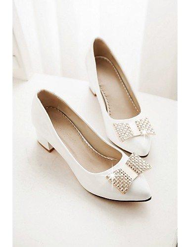 WSS 2016 Chaussures Femme-Bureau & Travail / Habillé / Décontracté-Noir / Rouge / Blanc-Gros Talon-Talons-Talons-Similicuir white-us9.5-10 / eu41 / uk7.5-8 / cn42