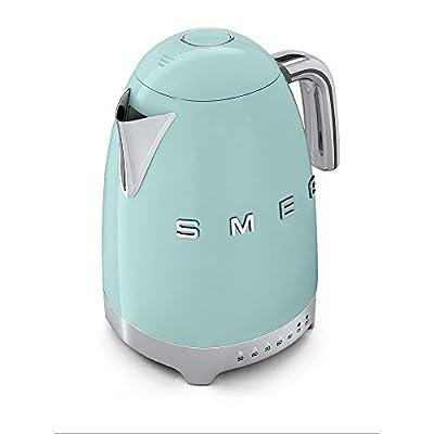 Smeg kLF02PGEU bouilloire électrique à température variable, vert pastel