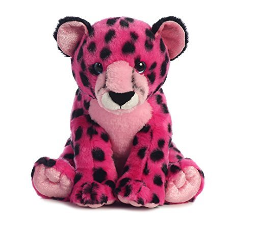 Aurora World Destination Nation Animal Cheetah Plush, Pink by AURORA -