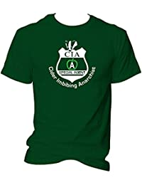 CG Cider Imbibing Anarchist - CIA Badger Badge Unisex T-Shirt