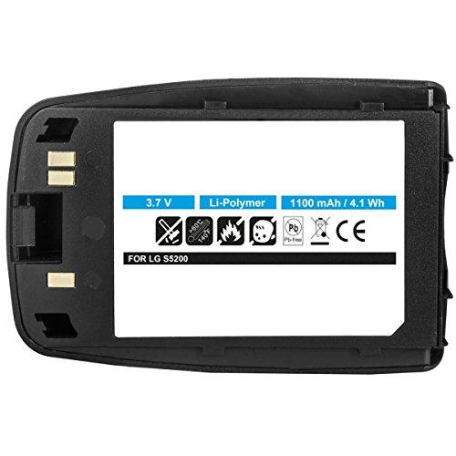 Akku für LG S5200 - ersetzt LGLP-GAHM, BSP-16G schwarz Li-Polymer 1100mAh