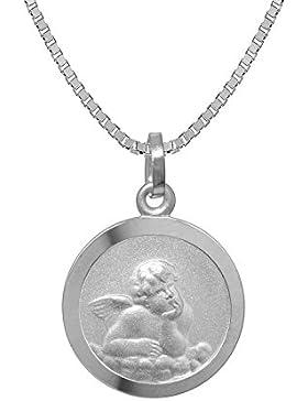trendor Silber Kinder-Halskette mit Schutzengel-Anhänger 73181