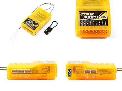 OrangeRx R820X V2 Full Range 8 Kanal 2,4Ghz Empfänger mit Failsafe /  Telemetrie / Satelliten und CPPM von Modellbau Eibl