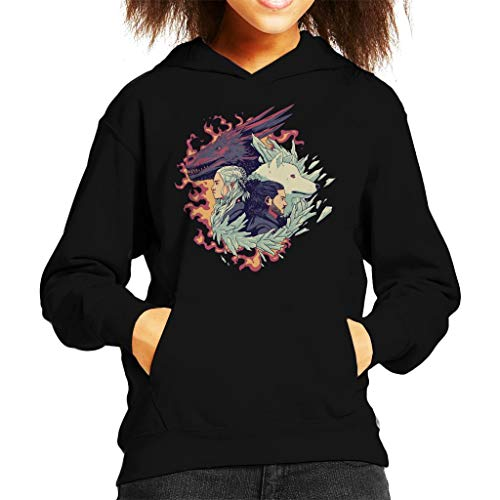 Ice and Fire Game of The Thrones Kid's Hooded Sweatshirt
