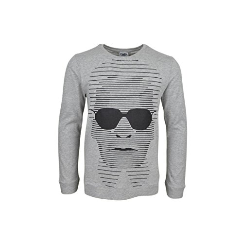 Karl Lagerfeld - T-Shirt Manches Longues Gris - 6 Ans, Gris Clair